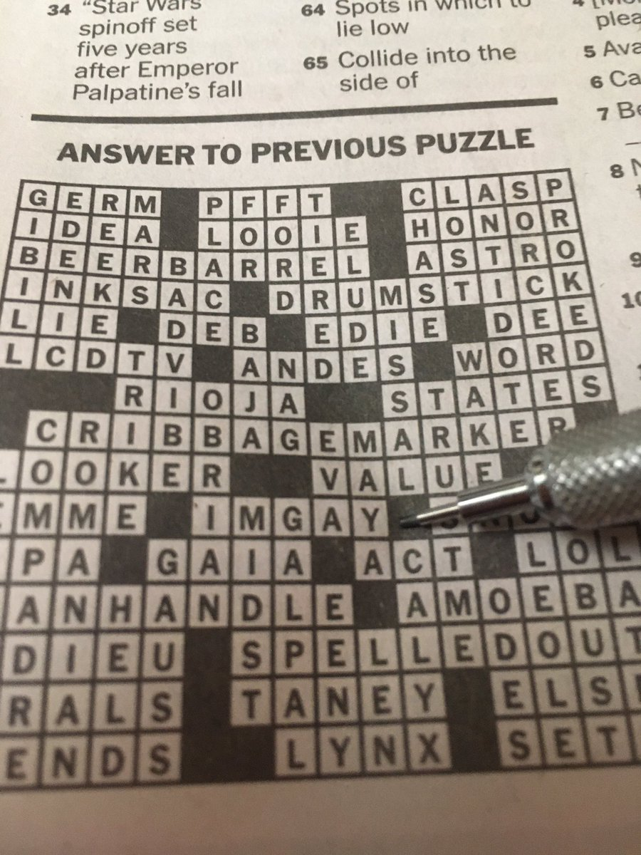 Missed this yesterday. Classic-era @ptcrUIsErUsA made the crossword puzzle!
