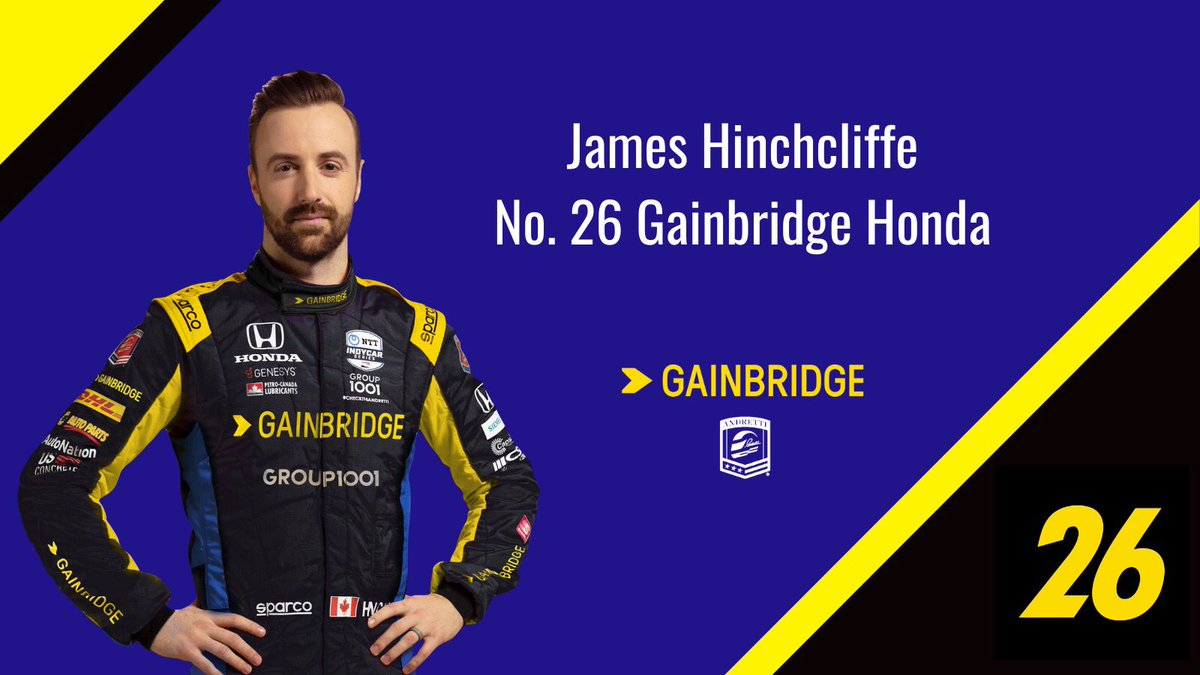 🚨BREAKING: DRIVER UPDATE🚨  Andretti Autosport has signed James Hinchcliffe (@Hinchtown) to compete in the final three races of the 2020 @IndyCar season in the No. 26 @GainbridgeLife Honda.  Read More: https://t.co/BpOPWWHgVx https://t.co/OV9MUWkv2X