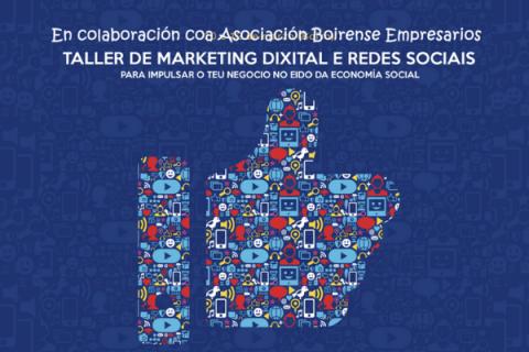FORMACIÓN| Taller de marketing dixital e redes sociais para impulsar o teu negocio no eido da #economíasocial. #Boiro 👩🏫 Presencial na #Asociación Boirense de Empresarios  📅 29 e 30 de setembro e 1 de outubro de 2020 ⏰ de 09:00 a 14:00 horas  ➡️ https://t.co/nTkxezy4SB https://t.co/1Fx15n7qzf