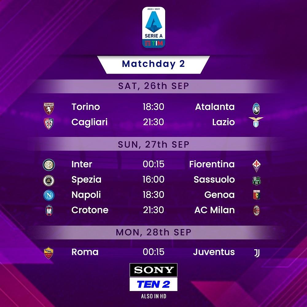 Weekend = Sorted ⚽🇮🇹  Say goodbye to all the stress, and hello to Serie A! 🤩  📺 Sony TEN 2  #SonySports #SirfSonyParDikhega #Sports #WeAreCalcio #SerieA #football #juventus #ronaldo https://t.co/bkfNTsHBY5