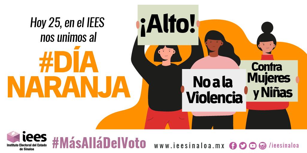#Hoy 25 de septiembre como cada mes en el IEES nos unimos al #DíaNaranja para la Eliminación de la Violencia hacia Mujeres y Niñas.  #DíaNaranja #Unete #ONU #INMUJERES https://t.co/DB0tfefL94