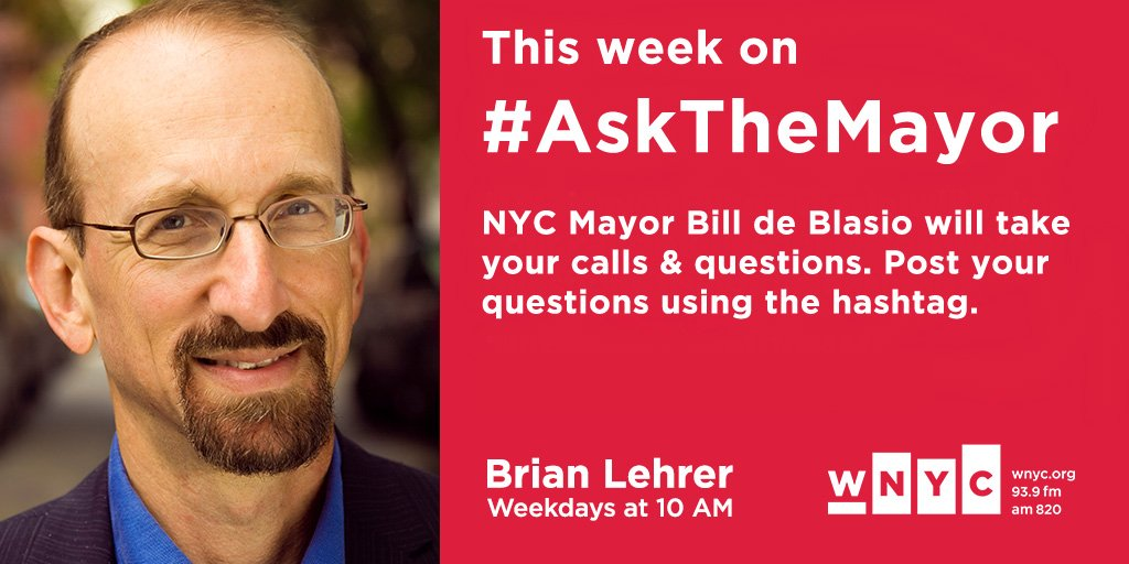 NOW: #AsktheMayor with @NYCMayor. Call in with your qs 646 435 7280 and tune in @WNYC, 93.9 FM and wnyc.org.