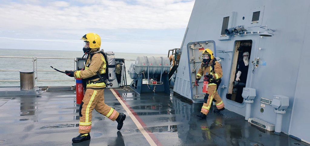 Sailors in the @RoyalNavy need to be prepared for anything that might come their way on the High Seas! #training #firefighting #LRGX
