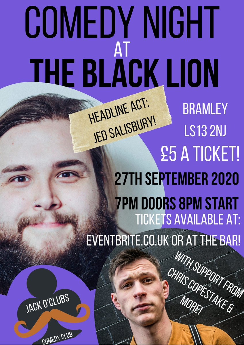 Putting on some great events in the Leeds Area. This Sunday with @Jedandbreakfast & @ChrisCopestake   https://t.co/VGWe2Z2S9q  #comedy #bramley #leeds #standupcomedy #westyorkshire #thingstodoinleeds https://t.co/xkHeBhROFK