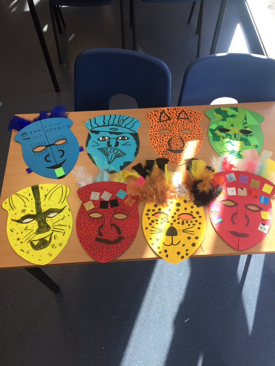 Some incredible Mayan masks from the Year 6 Haddoners this afternoon @Haddon_Primary https://t.co/qfGcOxg3Rr