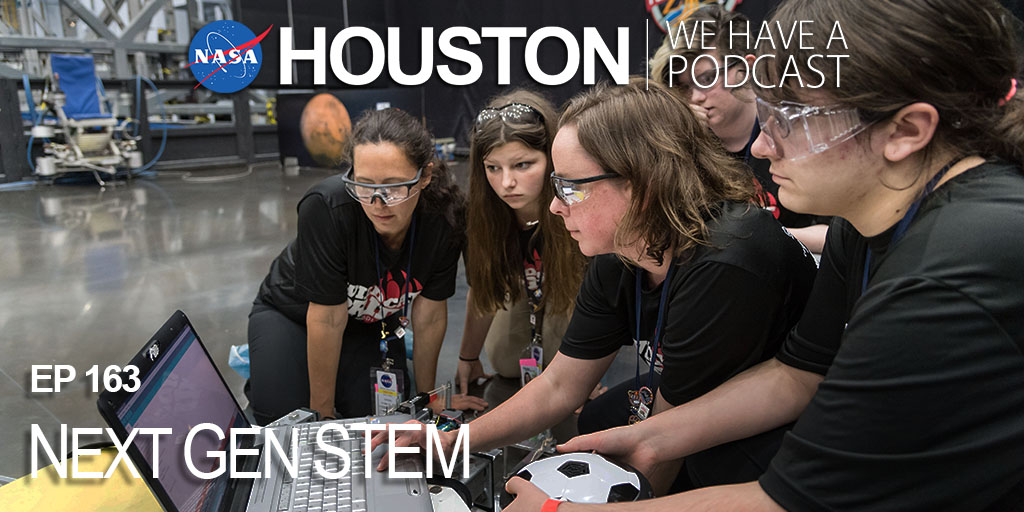 """Students and teachers contribute to missions across @NASA in a BIG way! Learn all things Next Gen STEM on this week's """"Houston We Have a Podcast."""" https://t.co/xFCBcvJbof https://t.co/kpmppIaDRX"""