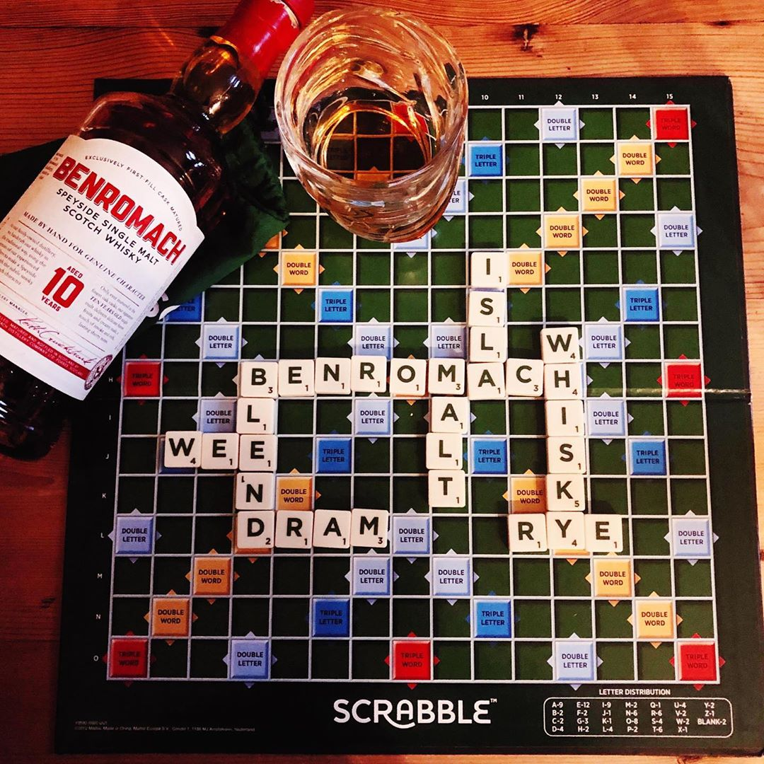 Sunday evening board games with a dram of our 10 Years Old.   This is our kind of game of scrabble!  Thanks for sharing markdavis600 on Instagram.  #Benromach #BenromachWhisky #whisky #singlemalt #dram #scotchwhisky #scotch #malt #distillery #sunday #scrabble #boardgames https://t.co/8VbjAk3YUA