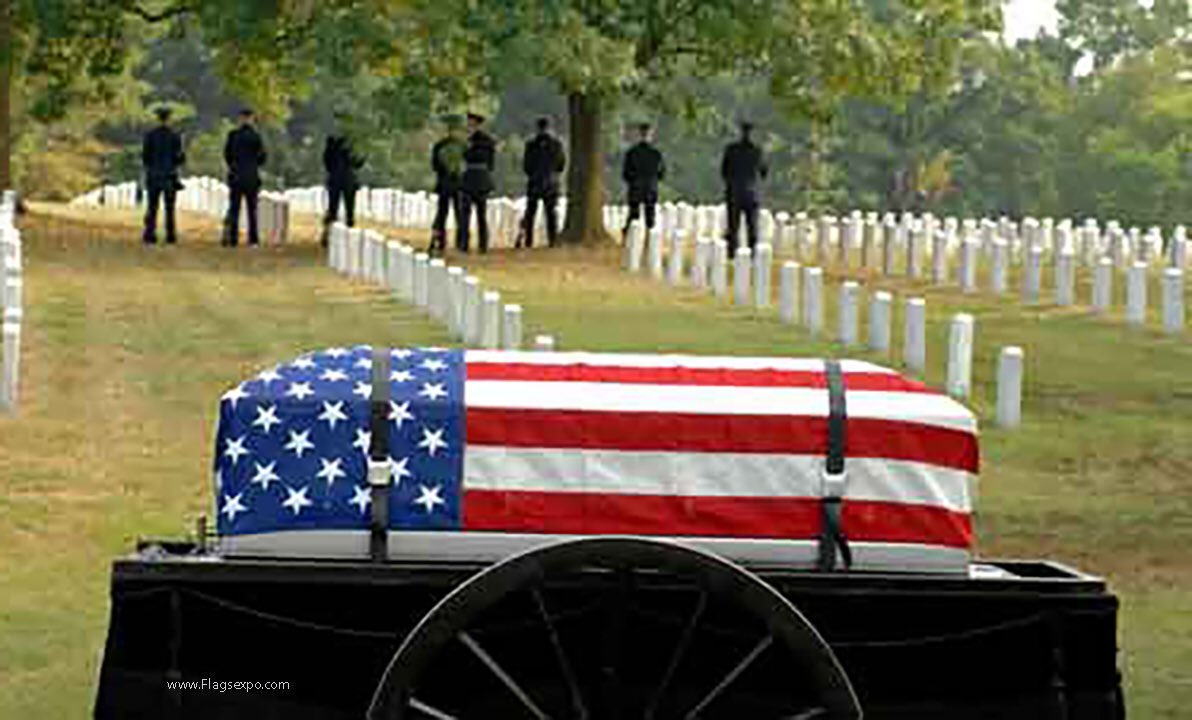 Americans have given their lives all over the world. When you use the banner under which they fought as a source for your displeasure, you dishonor the memories of those who bled for the very freedoms you have. That's what the red stripes mean. It represents the blood of those