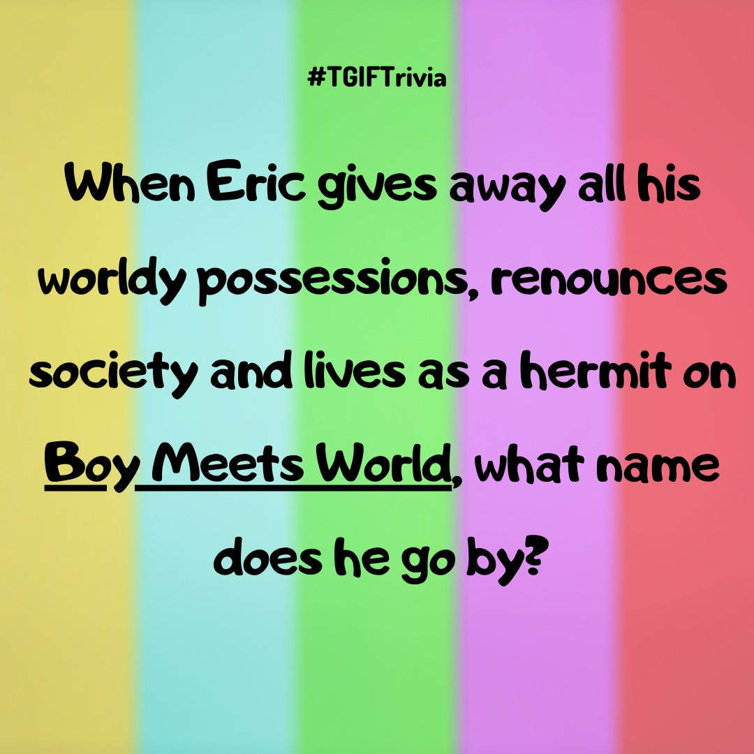 Happy #TGIFTrivia!  #braingames #dailytrivia #didyouknow #fact #facts #funfacts #instagramtrivia #interestingfacts #quiztime #trivialove #trivialsoup #trivianight #triviaquestions #triviatime #BoyMeetsWorld #EricMatthews #CoreyMatthews #BoyMeetsWorldTrivia https://t.co/RLpxFCWx0Q