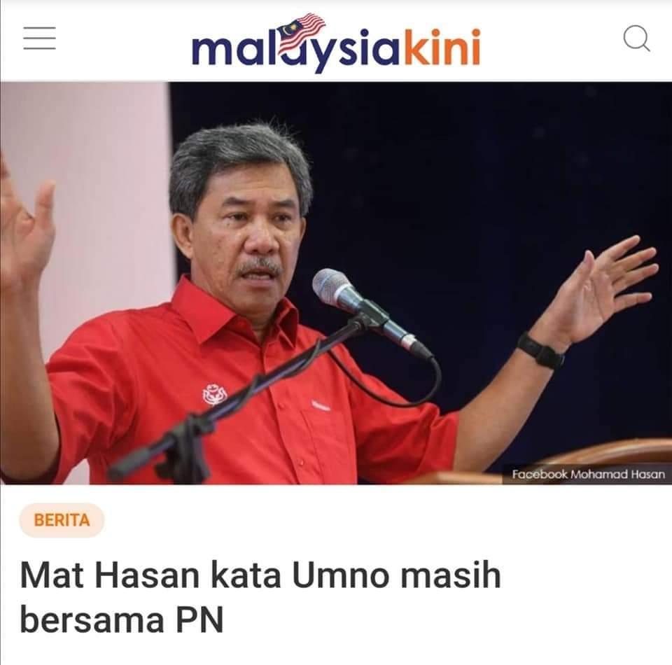 Umno masih dgn PN tapi MP umno ada yg join Anwar