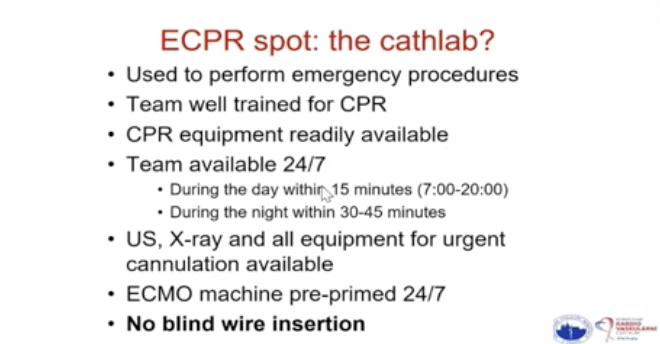 #ECPR to provide circulatory support in cardiac arrest factors impacting on outcome? time/logistic:  early CA recognition/EMS alert bystander CPR fast arrive on scene quality of conventional CPR pts selection fast #ECMO to restore circulation  @jan_belohlavek @EuroELSO #ELSO2020 https://t.co/VQ8dTkIrR7