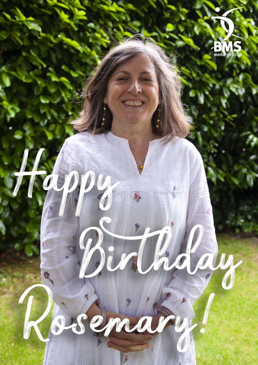 test Twitter Media - 🥳 It's Rosemary Halliday's birthday! 🥳  Rosemary and her husband Phillip serve in France, where they work encouraging and developing planted churches.  From all of us at BMS, we hope you have an amazing birthday Rosemary!! 🎂🎈   Be sure to leave Rosemary some love below! 👇💜 https://t.co/jAEalHkWwA