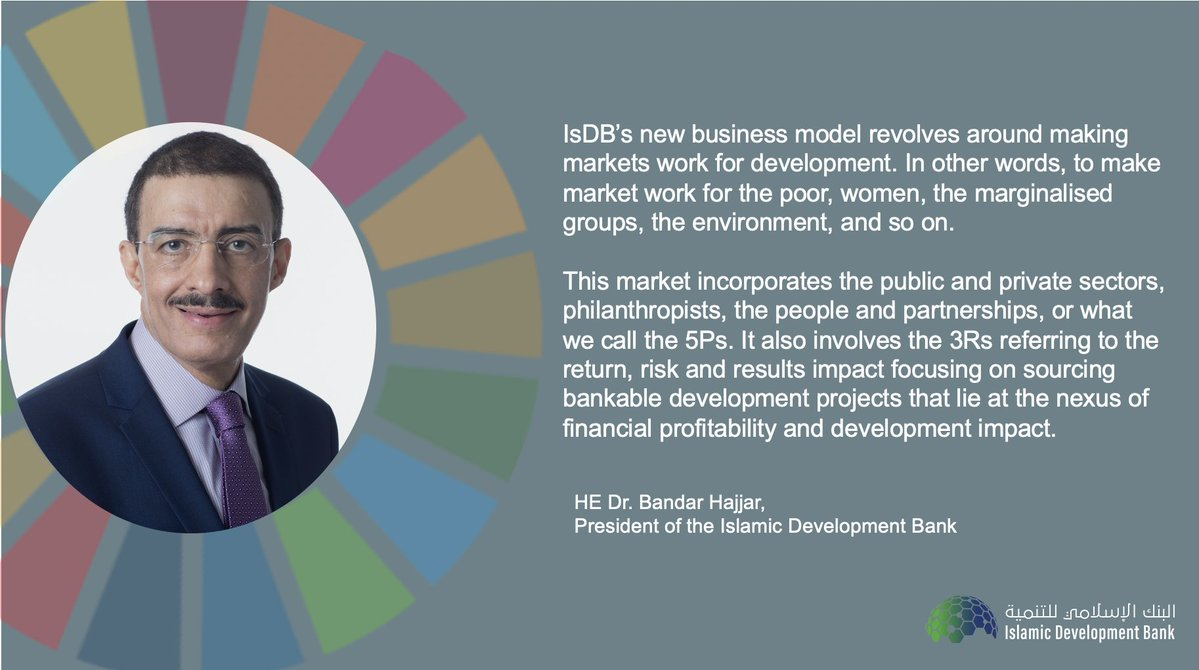 IsDB is working to ensure that member countries have access to sustainable and ethical financing options to help support socio-economic recovery post #COVID19. Sustainable recovery will require broad-based global economic transformation aided by ethical financing. #UN75 #UNGA