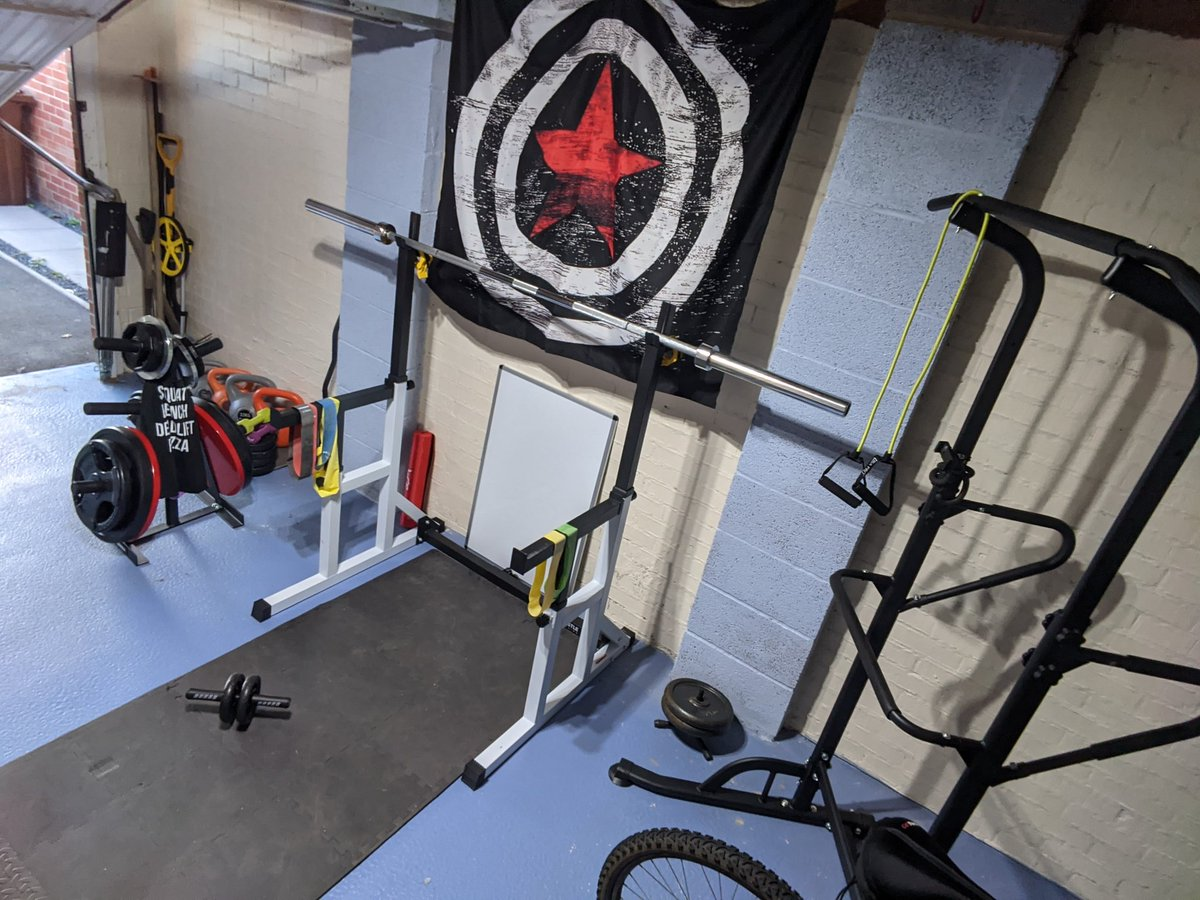Added a pull up station to the #garagegym The home gym set up is coming along nicely! :) https://t.co/RqwKEFngsp