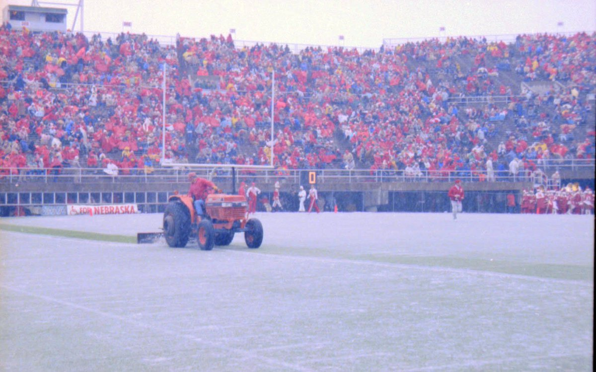 We think football needs more tractors. @UNLBands what do you think about adding a tractor to the band?!  Happy #FootballFriday!   (#Nebraska vs. #KansasState, 1986, Nov. 3)  #UNL #LNK #Huskerfootball #huskers @UNL_IANR https://t.co/Na8vK7wyYr