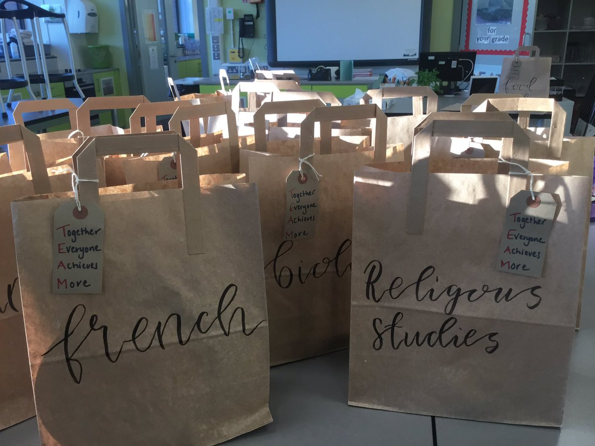 Staff development day with a difference! Unable to meet together but important to show we care. Goodie bags for each department. https://t.co/6SPgZ5sPea