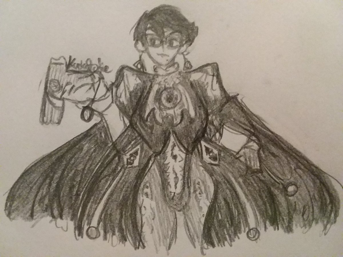 We stan a short-haired witch Yes I'm biased  #bayonetta #art #myart #pencilart https://t.co/onhTh613UG