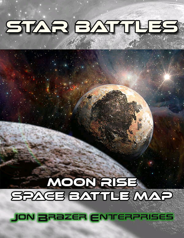 The latest in our collection of maps for any #scifi #rpg virtual tabletop (like @FantasyGrounds2, @Roll20app and @FoundryVTT) is Star Battles: Moon Rise Space Battle Map. Download this map today at @DriveThruRPG. #StarfinderRPG #TravellerRPG https://t.co/3PenrdNmY1 https://t.co/LuIRkJFYwz