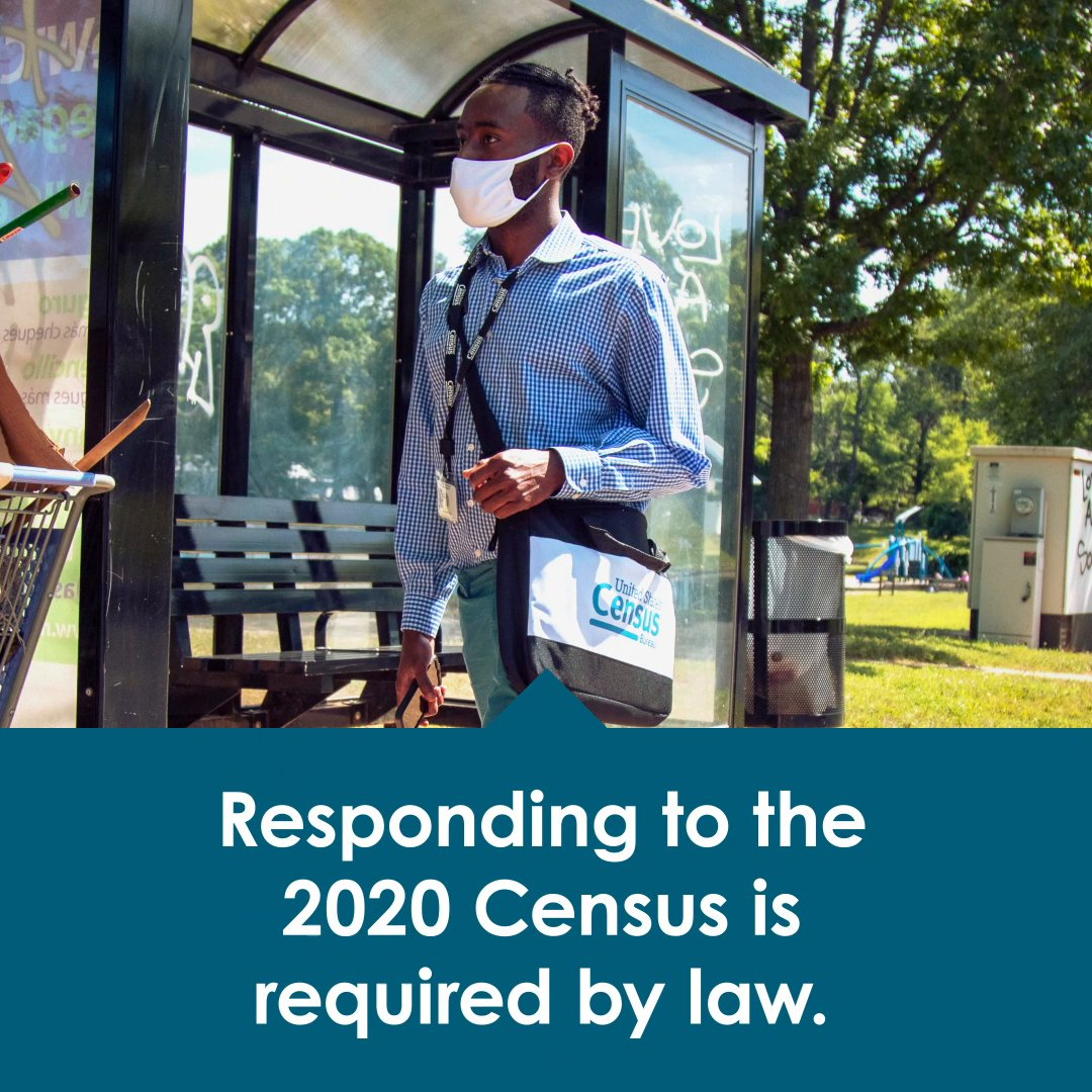 Responding to the #2020Census is required by law. Time is running out. Don't miss your chance to shape your future. Respond today at 2020CENSUS.GOV.