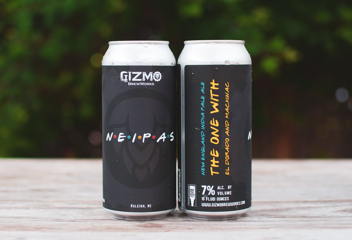 Who's ready for a NEW BREW? NEIPAS is a new series of New England India Pale Ales. Each new beer that follows will have different hops. This batch is... The One With El Dorado and Mackinac Hops.  #gizmobrewworks #drinkncbeer #beerrelease North Carolina Craft Brewers Guild https://t.co/nkL8AcYgWk