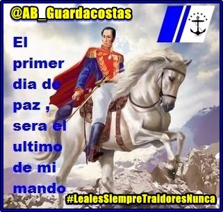 """#25Sep El Comando de @AB_Guardacostas, actitud combativa en la Salvaguarda Naval, te presenta """"PENSAMIENTO BOLIVARIANO"""", manteniendo viva la llama indomable de nuestro GJ Simón Bolívar, """"EL LIBERTADOR"""".  Bolívar Vive en nosotros, su pueblo!  SEGUIMOS VENCIENDO al #COVID19 https://t.co/N9rM3Uistq"""