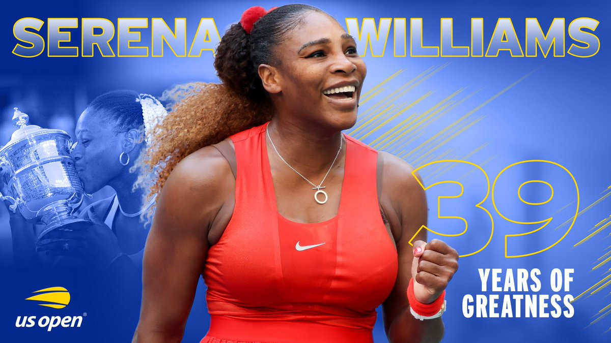 6 US Open titles 23 Grand Slam titles 39 years of being Serena  🏆🏆🏆 @serenawilliams 🏆🏆🏆
