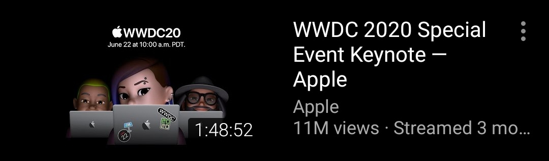 Oscar 2021  Best Picture : WWDC 2020 Apple Event Keynote  Best Actor : Craig Federighi https://t.co/9uGM4xybk5