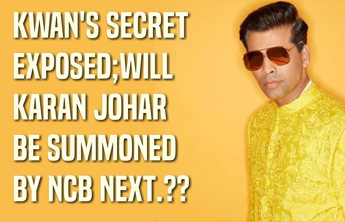 KWAN'S Secret Exposed; Now will Karan Johar be summoned by NCB Next...??? #BoycottBollywood #BoycottBollywoodFilms #BoycottKJO #BoycottBollywoodDruggies #PudiyaBollywood #BollywoodCleanup #BoycottBollywoo #KJO https://t.co/rlq8TWiX5c
