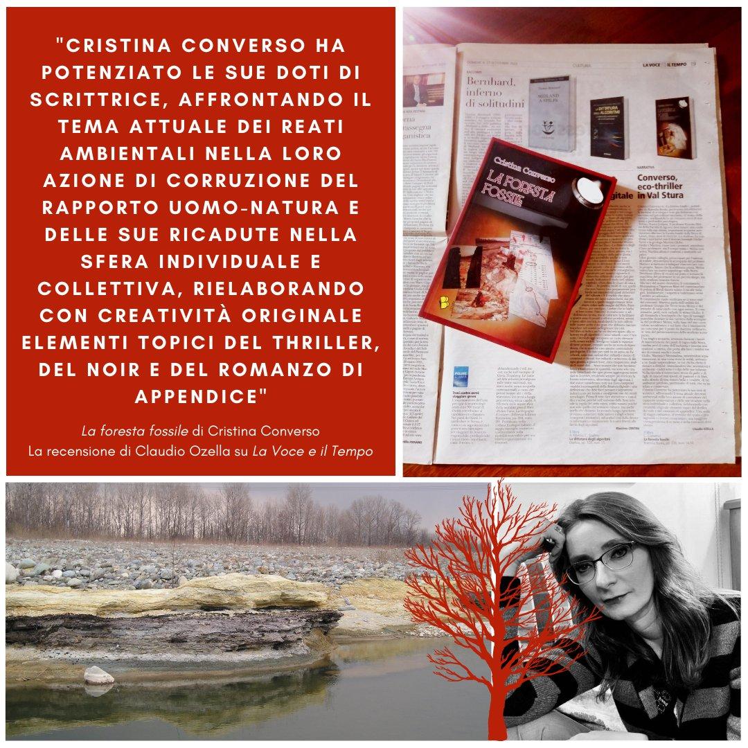 """Su #LaVoceEIlTempo la #recensione de """"La foresta fossile"""" di #CristinaConverso, un #viaggio iniziatico nella #natura e nel #noir! Grazie a #ClaudioOzella! https://t.co/58o3bCBzIV"""