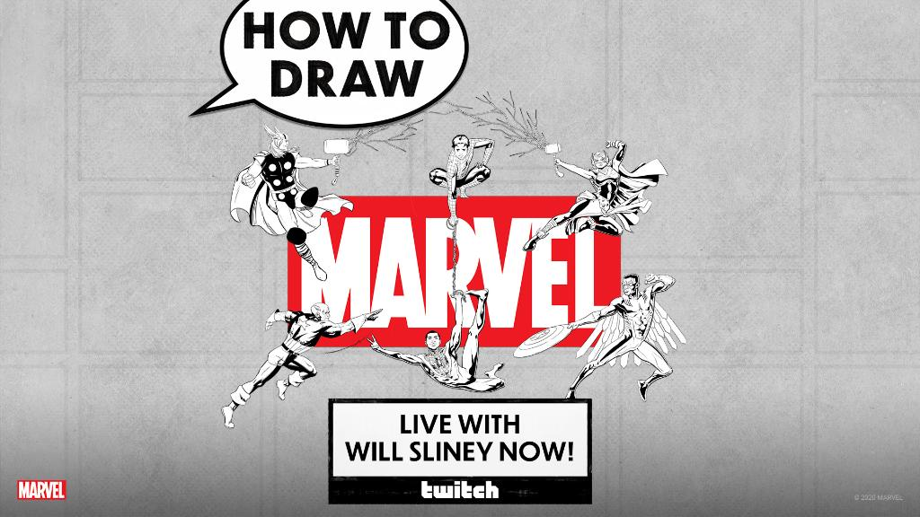 Our #NationalComicBookDay livestream continues, and artist @WillSliney is LIVE as he brings your favorite heroes to life! ✏️ Watch now on our Twitch channel: Twitch.tv/Marvel