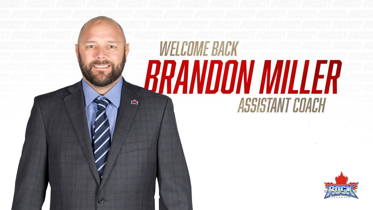 Welcome Back B!  We are pleased to announce the return of Brandon Miller as an Assistant Coach.  Miller will have a focus of working with the Rock's goaltenders. https://t.co/tKzokXFWF1
