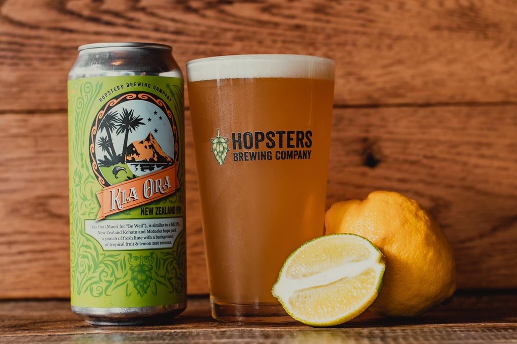 New Beer Release: Kia Ora! New Zealand IPA • 5.7% ABV • Notes of Lemon, Lime & Tropical Fruits • Perfect to sip in Fall • Available in-store!   #beerrelease #hopstersbrew #newbeerrelease #newton #seaport #boston @MassBrewBros @CraftMass @DrinkableGlobe @cbc_newton #craftbeer https://t.co/UnkjeArubD