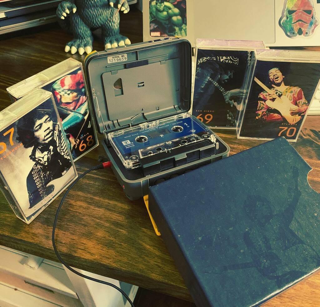 It's a Jimi kind a day. #jimihendrix #jimihendrixexperience #jimihendrixstages #jimihendrixstages67 #jimihendrixstages68 #jimihendrixstages69 #jimihendrixstages70 #cassettecollection  #cassetteculture #cassettes #cassettetapes #tapes #sony #sonysports #s… https://t.co/w8j7hIF5P0 https://t.co/fjDh6mtEtq