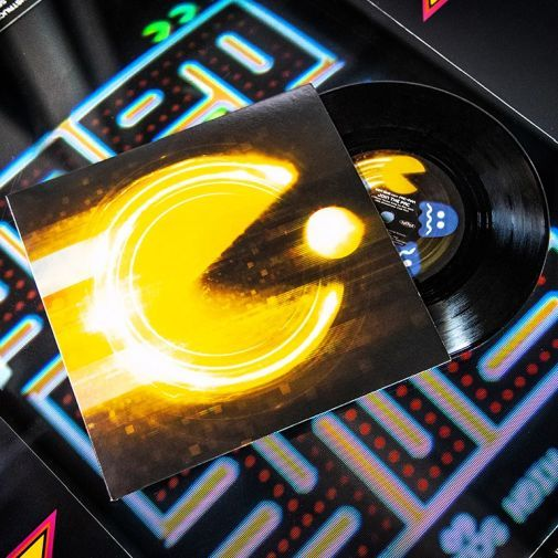 """Pac-Man """"Join the Pac"""" 7″ vinyl available at iam8bit https://t.co/ips4r1TnZB  The @officialpacman 40th anniversary theme song """"Join the Pac"""" by Ken Ishii (@K_Ishii_70Drums) is pressed on 7"""" vinyl and available to order from the @iam8bit online store. #PacMan #JoinThePac https://t.co/2iigBUqEbE"""
