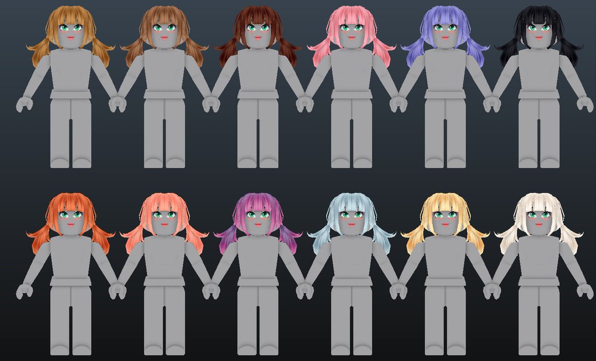 Erythia - Expanding my hair colors with a brand new hair texture that I absolutely love!  Any more hair colors you'd like to see? Suggest below🥳  #Roblox #RobloxUGC