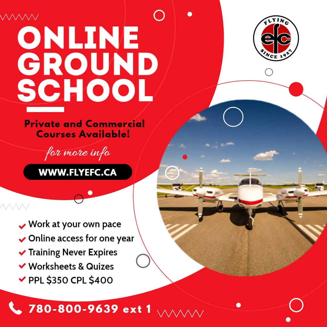 Wanting to learn to fly but not sure where to start? Online ground school is a great option, especially with #covid19 #onlinetraining #onlinegroundschool #groundschool #learntofly #pilot #pilottraining #flightschool #privatepilot  #commercialpilot #cpl #efcclub1 #efc1927 https://t.co/FGZhkavoPW