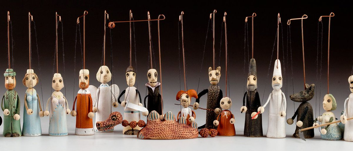 Ceramic and marionette? Awesome combination! Some of them are cast, some mold and they are all hand-made from high-quality burnt clay. Take a look at this wonderful selection of marionettes hand-made by Czech artists - *|https://t.co/XOHfzKemMA|* https://t.co/sOSAFtwrxX