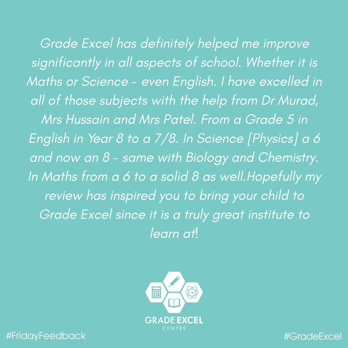 #FridayFeedback #ParentFeedback #StudentFeedback #WhatOthersSay #GradeExcel #Education #AcceleratedLearning #Makingadifference #KS2 #KS3 #GCSE #English #Maths #Science #QualifiedTeachersOnly #NoScreenPolicy https://t.co/5gNroyqShW