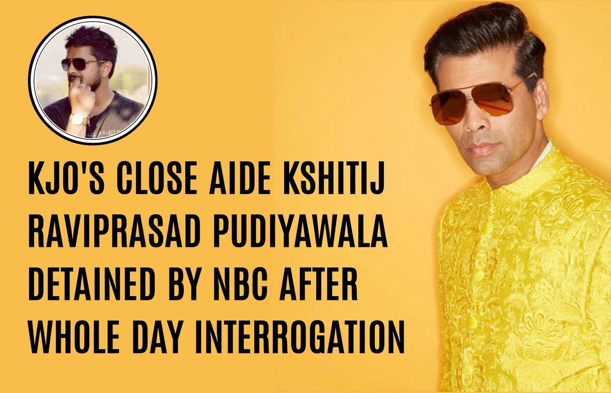 Karan Johar's close aide,DHARMA PRODUCTION'S Executive Producer Kshitij Ravi Prasad detained by NBC after a whole day long interrogation. #KJO #BoycottBollywood #BoycottBollywoodDruggies #DharmaProductions #KshitijPrasad #BoycottBrandBollywood #JusticeForSushantSinghRajput https://t.co/0bcE1iCBtJ