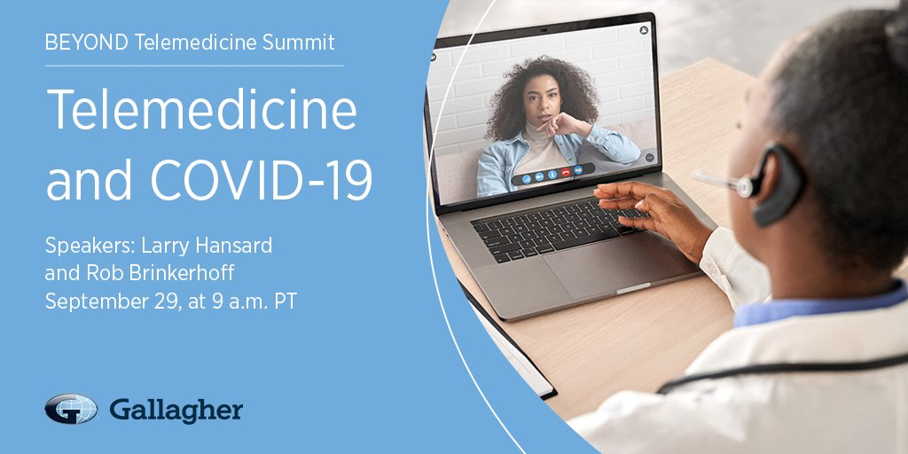 Join Gallagher's, Larry Hansard & Rob Brinkerhoff, at Virta Health's Beyond Telemedicine conference, where theyll be discussing the future of healthcare in the wake of the COVID pandemic alongside 40+ industry leaders. It's virtual and free to attend! bit.ly/3cvr19q