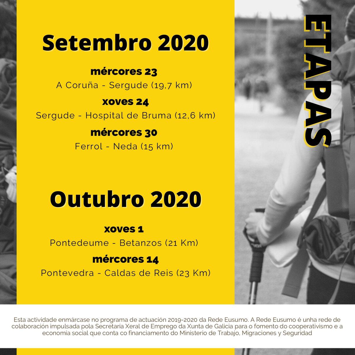 A @fundacionronsel está a desenvolver, no marco da #RedeEusumo, o #CAMIÑO #EMPRENDEDOR 👇 🚶♂️🚶♀️🏞️ Un proxecto que une a ruta a Santiago co potencial emprendedor de Galicia: 👣 andaina + 🙋♀️ actividades de mentoring. #cooperativas #economíasocial Apúntate! 🔛https://t.co/bbxUd7awN3 https://t.co/7W0vsS85X3