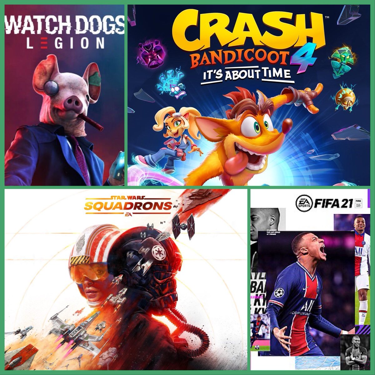Gamers! There is still time to pre-order the games releasing in October. Pick them up from the store or have them shipped to you; pre-order with us to make sure you get your copy! #watchdogslegion #crash4 #starwarssquadrons #fifa21 https://t.co/8u5wLr50I3