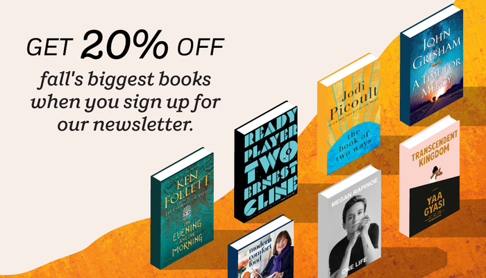 What a deal: sign up for free newsletter, get 20% fall's biggest books! https://t.co/cFS4E7MVPD https://t.co/Y11J31aJPL