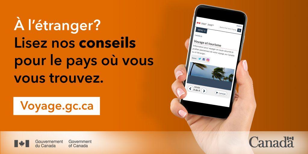 À l'extérieur du Canada?  ✔️ Inscrivez-vous auprès de nous ✔️ Jetez un coup d'œil à nos conseils pour le pays dans lequel vous êtes ✔️  Restez en sécurité!  https://t.co/uIOEkoAOQO  #COVID19 https://t.co/rD50f45ffj