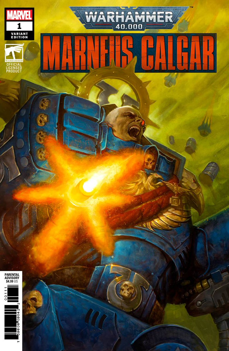 E.M. Gist's WARHAMMER 40K MARNEUS CALGAR #1 is here. Look for this series to debut October 14.