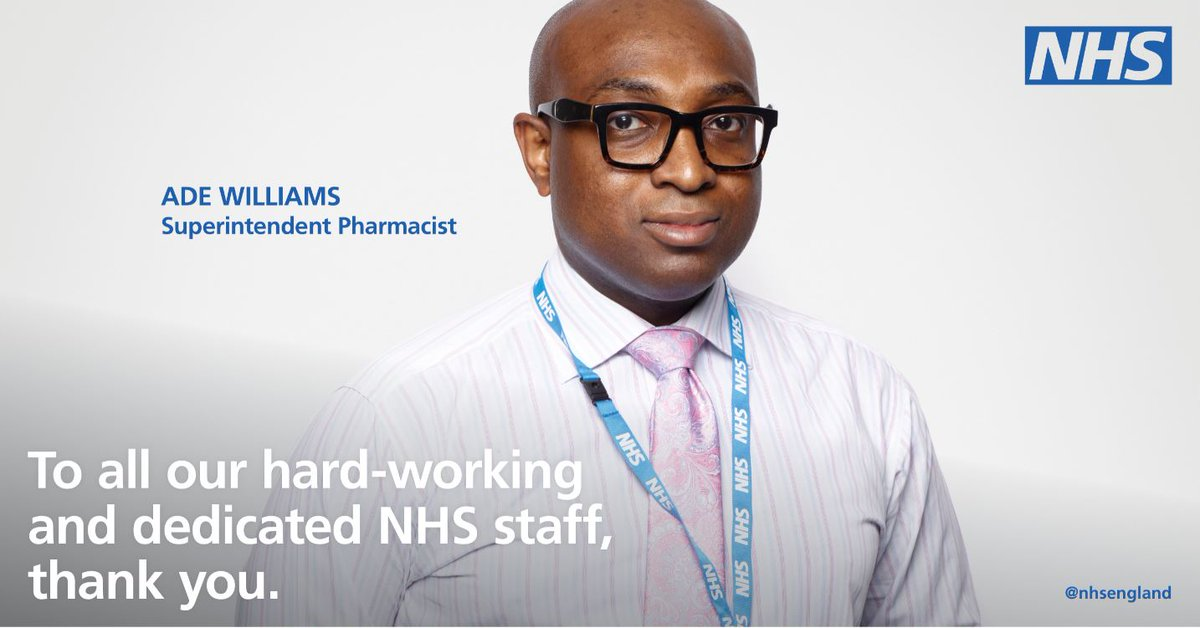 'In an average day, you will see so many different people who rely on your help — each with their own unique needs.' Ade is one of our brilliant pharmacists who has provided vital care to his community during the pandemic. #WorldPharmacistsDay #ThankYouNHS https://t.co/MouJpesr35 https://t.co/A8uwbljJcC