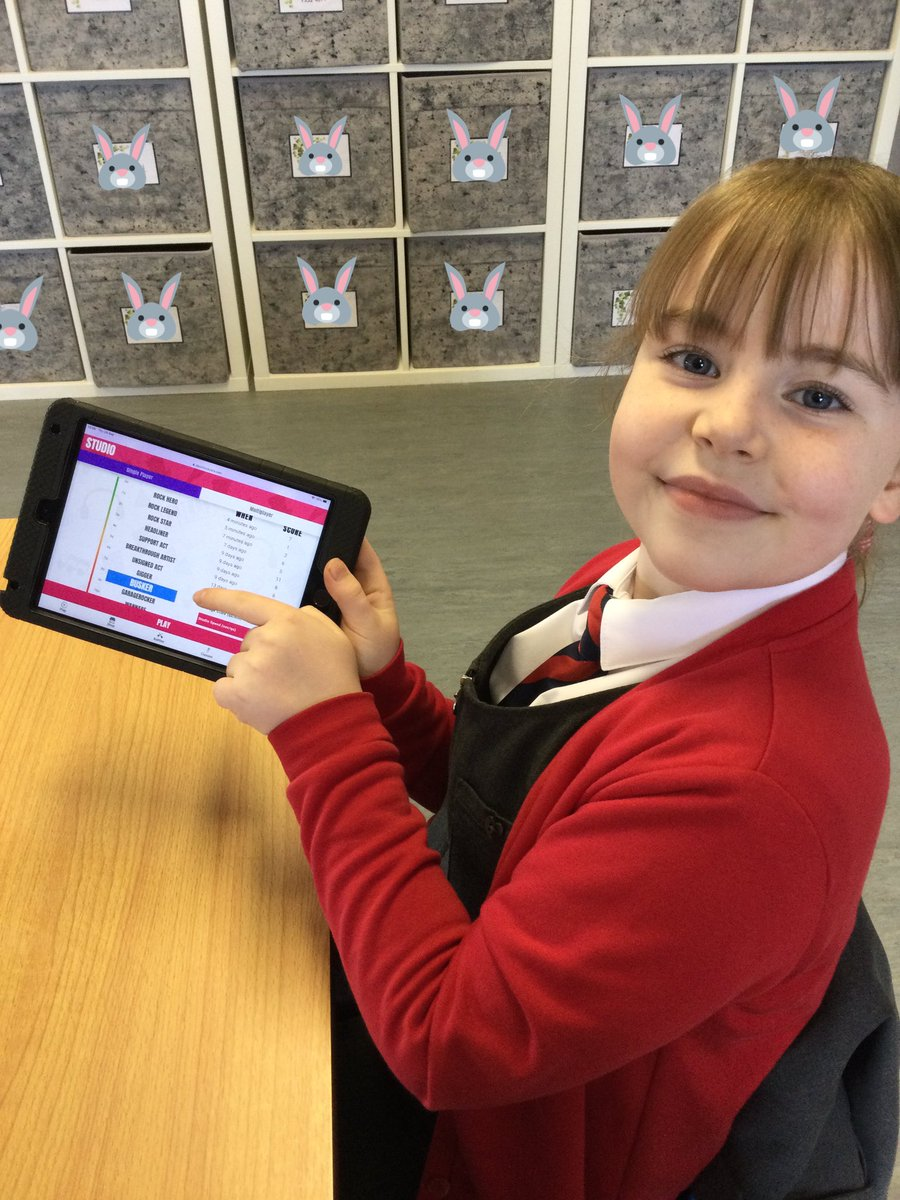 This Rabbit has been working hard all week to improve her score and is very proud of her Busker status on @TTRockStars 🤩 already aiming for the next one! 💪🏻@HMC_School #WeAreHardWorking #WeAreAmbitious #TimesTableRockstars #PersonalBest #Busker #KS2 https://t.co/Otc3iHZMPA