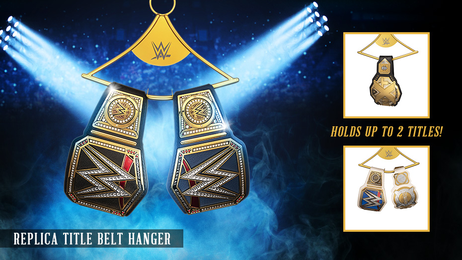 Make sure to show off all your Championship Title Belts with this new Replica Championship Title Hanger! Available now at #WWEShop! #WWE  https://t.co/aoRz6r7UQ1 https://t.co/CJRrMqOQNX