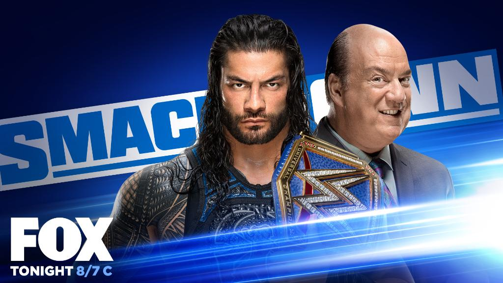 TONIGHT on the final #SmackDown before #WWEClash:  🔵 @WWERomanReigns & @HeymanHustle appear for an for in-ring interview  🔵 @JEFFHARDYBRAND and @SamiZayn go head-to-head 🔵 @AlexaBliss_WWE takes on @LaceyEvansWWE  ... and MORE! ➡️ https://t.co/ty9hqwcdwo  📺 8/7c on @FOXTV https://t.co/T1neOrR98d