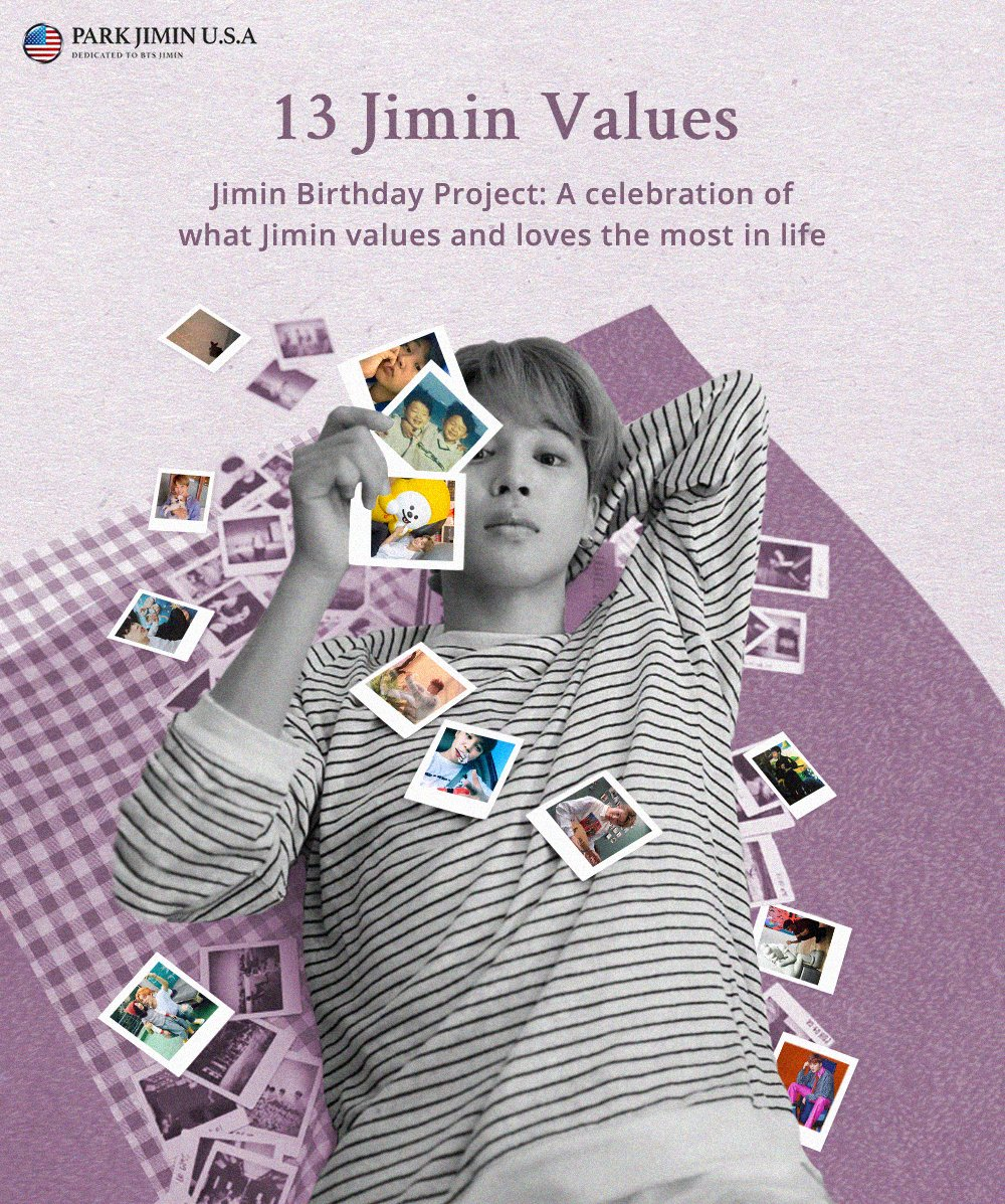 ✨13 Jimin Values✨ A Celebration of What Jimin Values & Loves the Most in Life 🌸Jimin Birthday Project of Park Jimin U.S.A.🌸  Park Jimin U.S.A. is happy to announce our 13 Jimin Values. Please check posters below for more information.💛  For donations: https://t.co/aBDGc4kvnl https://t.co/sT94INaYvH